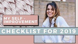 My Self Improvement Checklist For 2019   Self Love Sunday