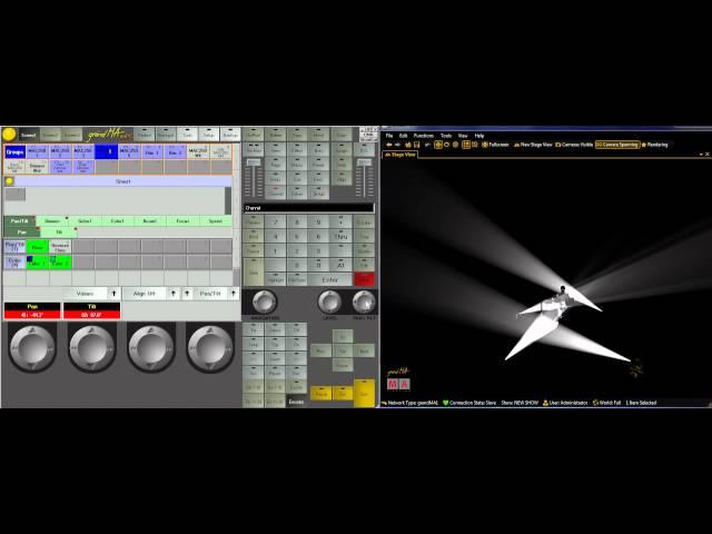 GrandMA Lighting Tutorials- Lesson 2 Creating Scenes and Pan-Tilt Reverse