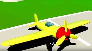 3D Мультик Конструктор: Аэропорт. Большая сборка: Собираем самолёт. Для самых маленьких.