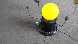 Solar System for Kids - Orrery with Planets in Orbit.
