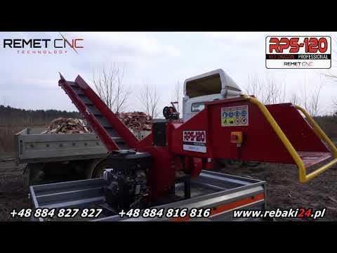 RĘBAK SPALINOWY  RPS-120 NA PODSTAWIE OBROTOWEJ 360˚ Z Silnikiem  Briggs&Stratton 23 KM
