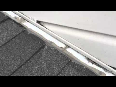 Improper Installation Of Flashing Where Roofing Shingles