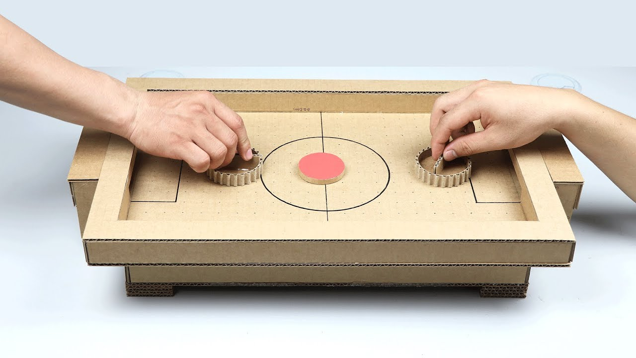 Cardboard Games Part - 26: How To Make Air Hockey Desktop Game From Cardboard