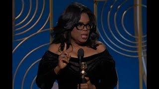 Oprah Winfrey na rozdaniu Złotych Globów 2018. Wsparła kobiety doświadczające przemocy