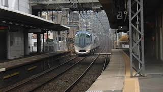 【近鉄】50000系特急しまかぜ(下り)→30000系ビスタカー(上り) 安堂駅通過!
