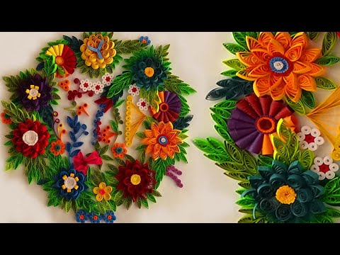 Wedding Haul Decoration Ideas With Flowers Wall Hanging Decoration Ideas Youtube