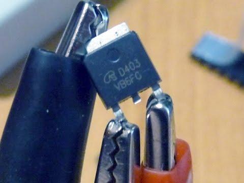 AOD403/D403 Test  | Проверка полевых транзисторов под нагрузкой