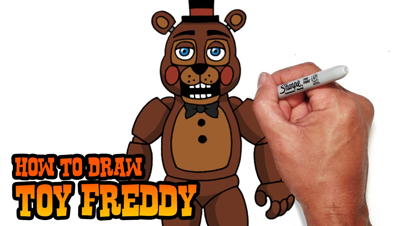 How To Draw Toy Freddy Fnaf 2 Video Lesson Youtube