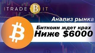 Биткоин Ждет Крах? Ниже $6000 Анализ Рынка #iTradeBit