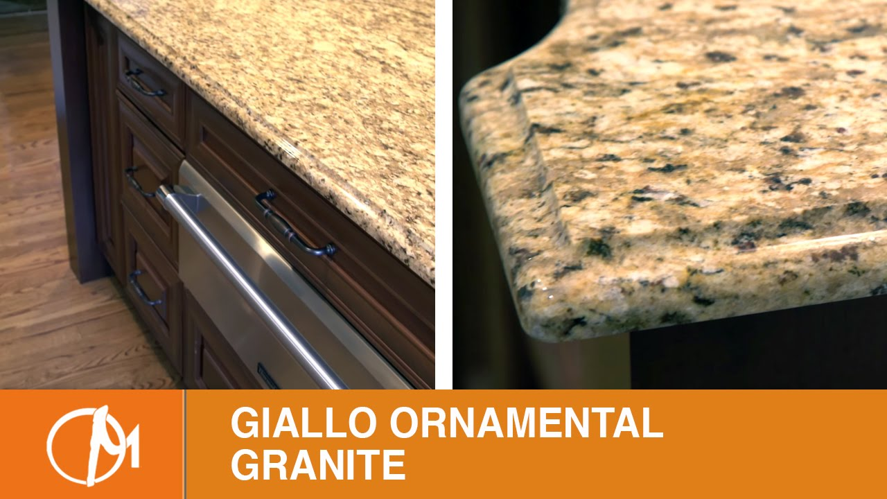 Giallo Ornamental Granite Kitchen Countertops Youtube