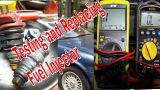 Fuel Injector Testing , Remove and Replace On Infinity J30 V6