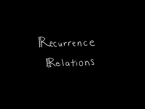 Discrete Math 2.4.2 Recurrence Relations