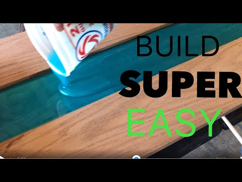 EPOXY WOOD TABLE BUILD:EASY GUIDE