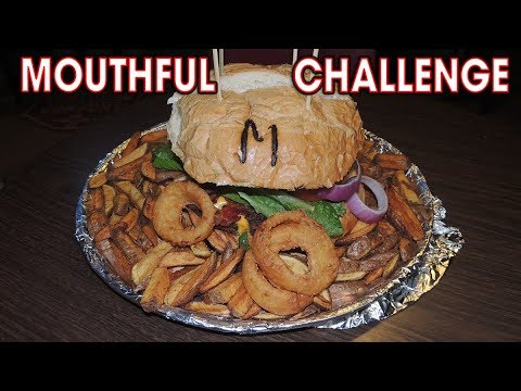 MOUTHFUL BURGER CHALLENGE IN WYOMING!!