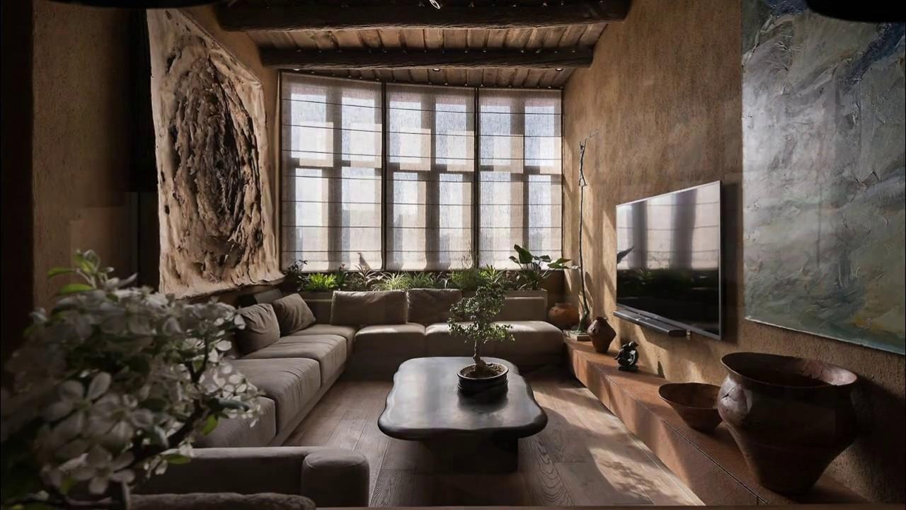 Interior design wabi sabi apartment tour kiev youtube - Wabi sabi interior design ...