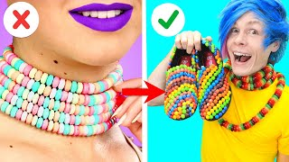 TRYING Ways to Sneak Snacks into a FASHION SHOW! Funny Situations & Clever DIY Ideas by Crafty Panda