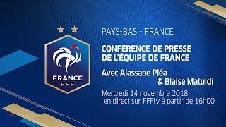 La conférence de presse de Pléa et Matuidi en replay, Équipe de France I FFF 2018
