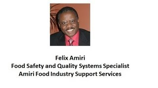 Food Production Operation Risk Assessment--Felix Amiri