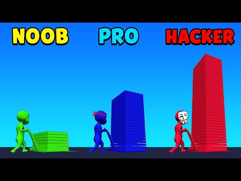 NOOB Vs PRO Vs HACKER - Stack Colors