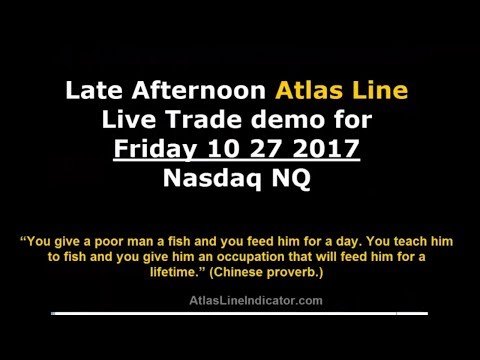 Atlas Line Live Trade Demo for Friday 10 27 2017 Nasdaq NQ