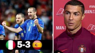 Италия 1 1 4 2 Испания Реакция Роналду на выход Италии в Финал Чемпионата Европы