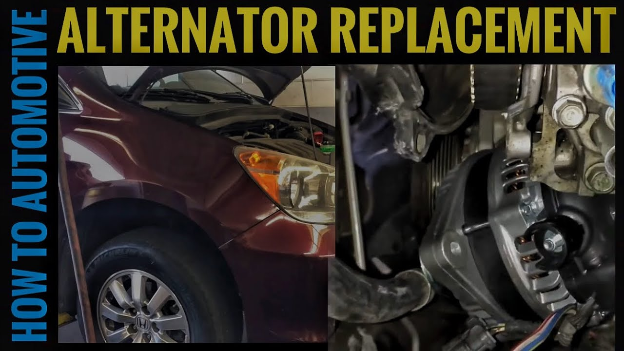 How To Replace An Alternator On A 2009 2010 Honda Odyssey