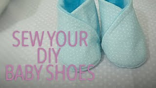 DIY BABY SHOES (sewing)