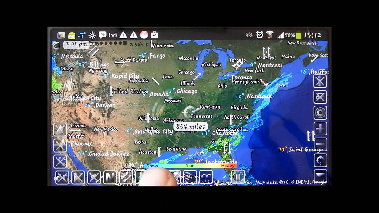 Weather Map Of New Mexico.Animated Weather Map For Android Youtube