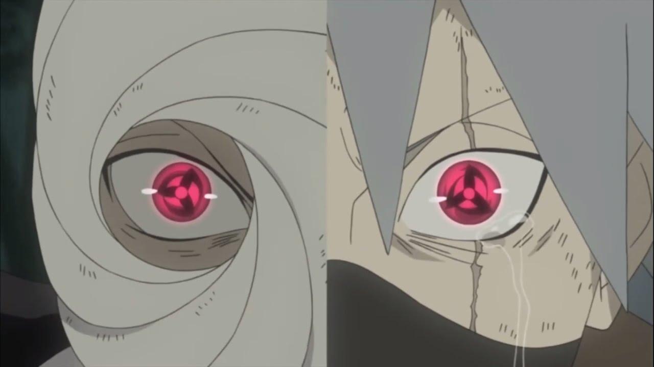 Obito & Kakashi awakening Mangekyō Sharingan for first time ...