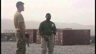 British and U.S. Marines Play Cricket