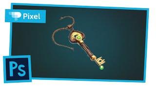 Рисуем волшебный ключ в Adobe Photoshop | уроки для новичков