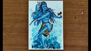 Shiva Tandav Painting with Acrylics | Art Lesson