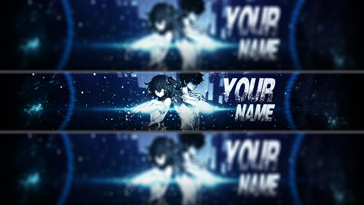 FREE Anime Youtube Banner Template36 Photoshop Tutorial YouTube