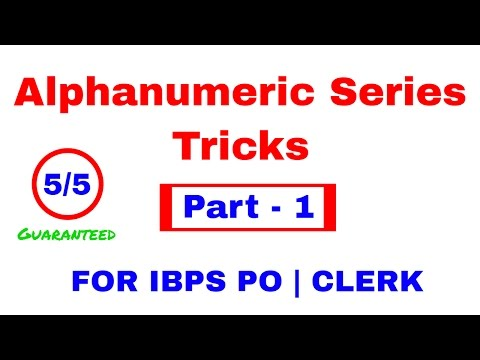 Alphanumeric Series Reasoning Tricks For Bank PO | CLERK  [I
