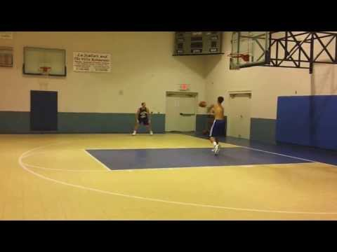 """Todd Davis Shooting 3s while reading from his essay, """"The Ball Goes in Clean"""""""