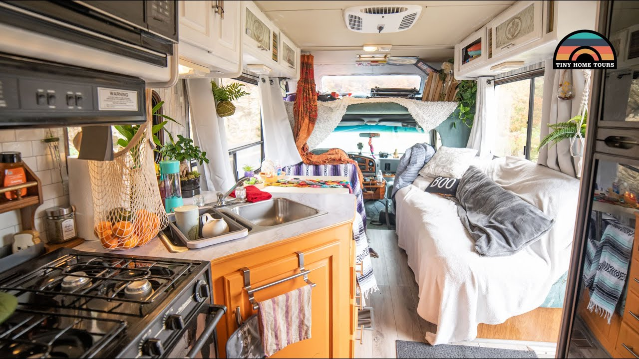 RV Tiny House Renovation At 19 Years Old - Skipping College To Live On The Road