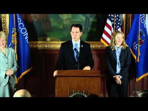 News Conference: Governor Walker Appoints Rebecca Bradley to Supreme Court