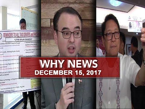 UNTV: Why News (December 15, 2017)