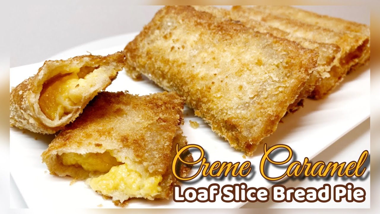 How to make Creme Caramel Loaf Slice Bread Pie