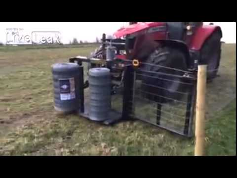 Automactic Fencing Tractor - YouTube