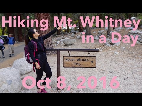 Mt Whitney Vlog Oct 8, 2016