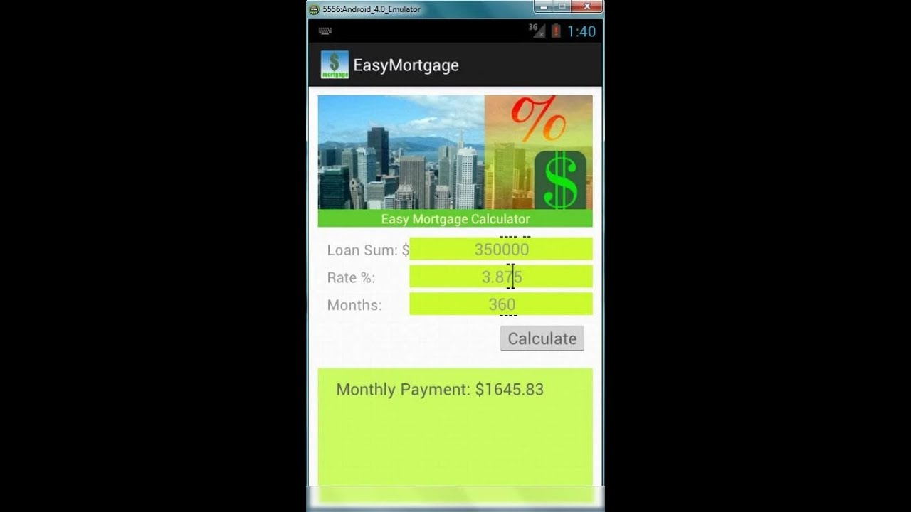 free easy mortgage calculator android app