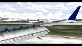 FsX landing in Antalya, Turkey HD