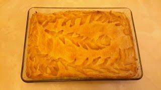 Пирог с картошкой и мясом-быстро и Очень Вкусно!