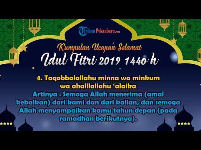 9 81 MB] Kumpulan Ucapan Selamat Hari Raya Idul Fitri 1440 H/2019