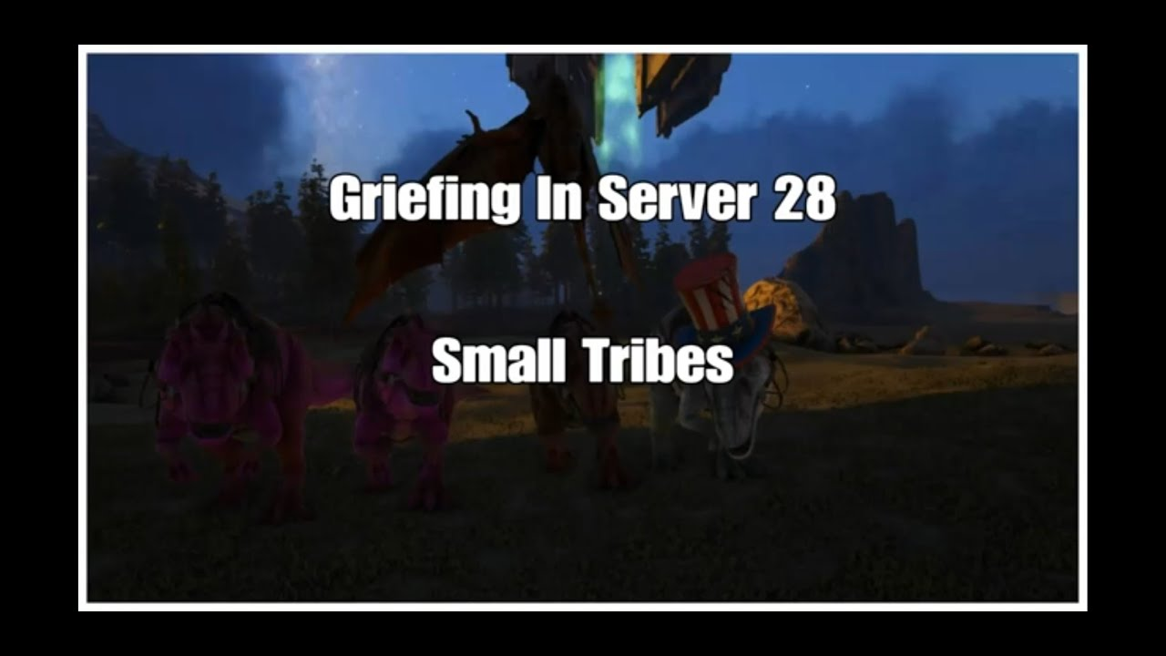 Ark Official PvP   Small Tribes   Griefing In Server 28 🥶🤯 Gigas VS  Reapers