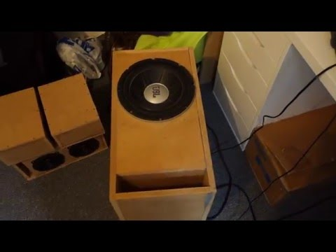 What a 10 inch subwoofer can do - JBL GTO1014 + Logitech