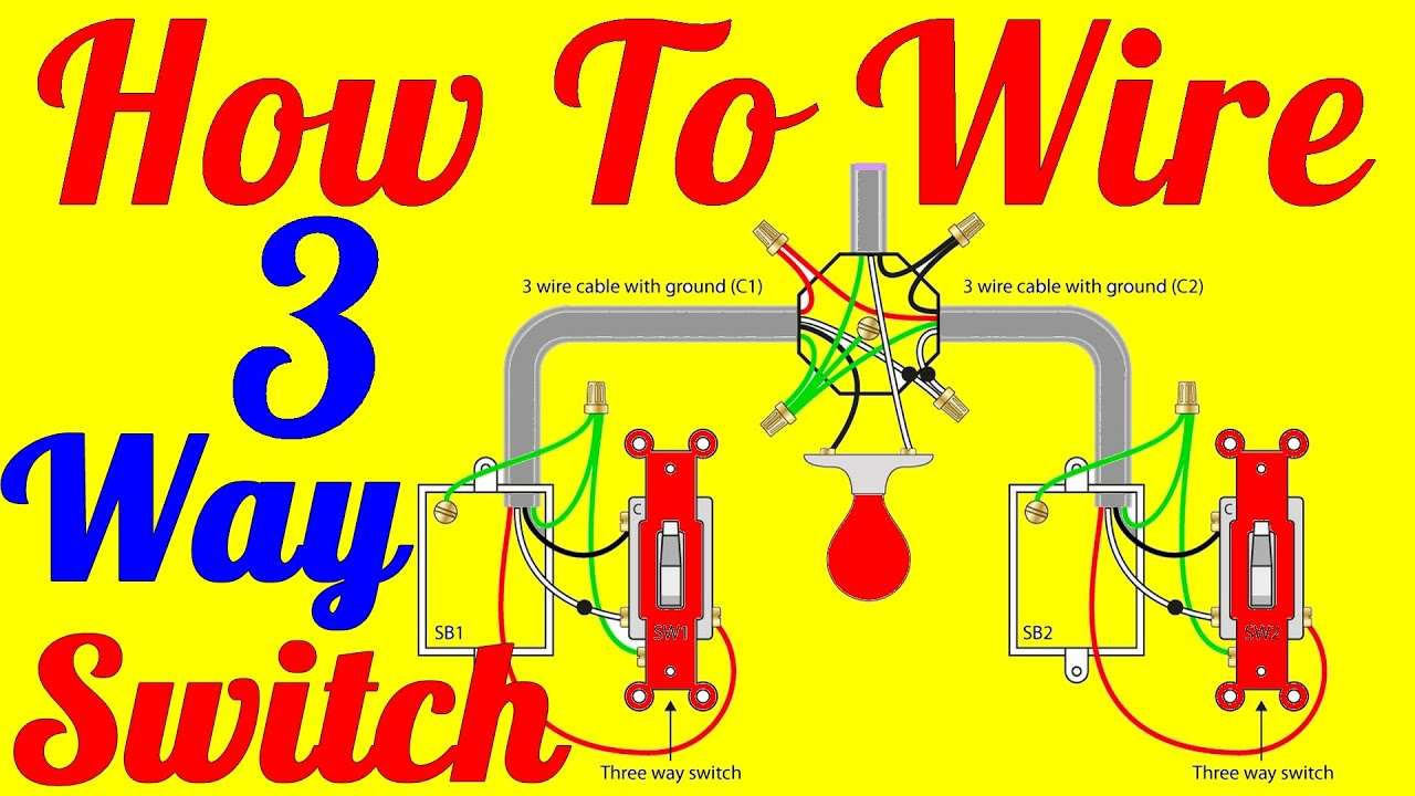 maxresdefault how to wire 3 way switch wiring diagrams youtube Easy 3-Way Switch Diagram at suagrazia.org