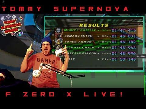 I FOUND IT! F Zero X (nintendo 64)Live! | Tommy SuperNova