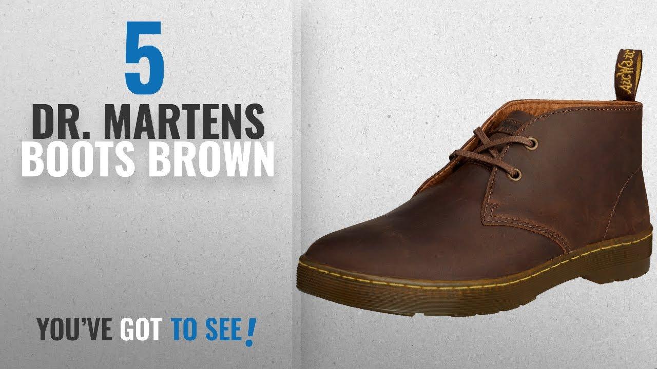 e6f63070643 Top 10 Dr. Martens Boots Brown [2018]: Dr. Martens CABRILLO Crazy Horse  GAUCHO, Men's Desert